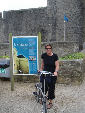 Brest castle and bike
