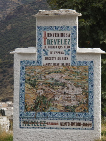 Trevelez City Sign
