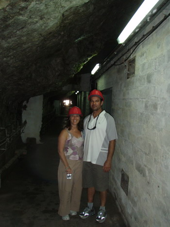 Dan and LL in tunnel